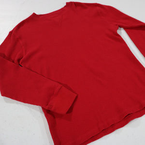 Red Boys Thermal Long Sleeve 10/12 Faded Glory